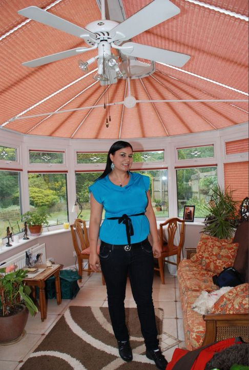 Example of a conservatory ceiling fan